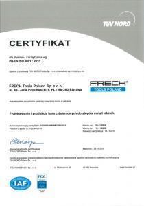 Certyfikat TUV Nord Polska - 01