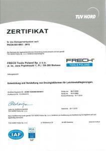 Certyfikat TUV Nord Polska - 03